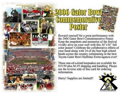 2006 Gator Bowl Commemorative Poster