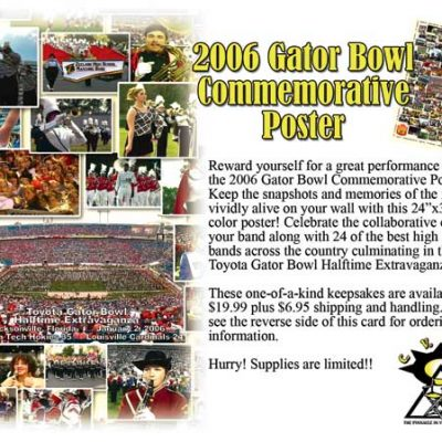 2006 Gator Bowl Commemorative Poster