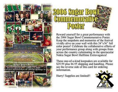 2006 Sugar Bowl Commemorative Poster