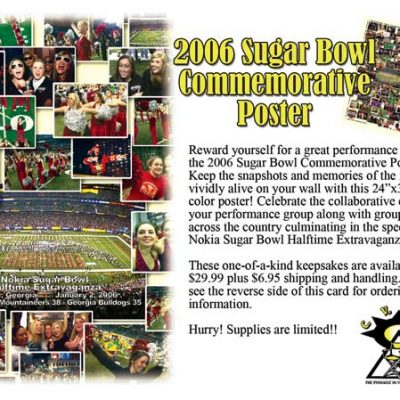 2006 Sugar Bowl Commemorative Poster