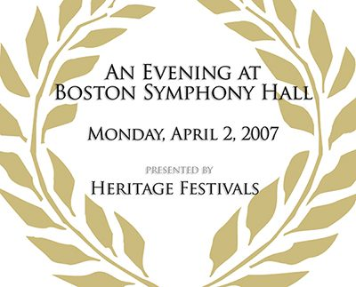 Festival of Gold An Evening at Boston Symphony